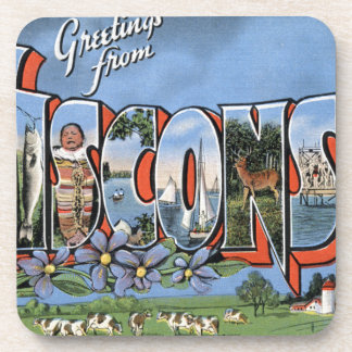 Greetings From Wisconsin Coaster