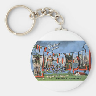 Greetings From Wisconsin Keychain