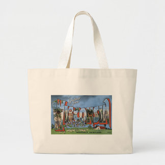 Greetings From Wisconsin Large Tote Bag