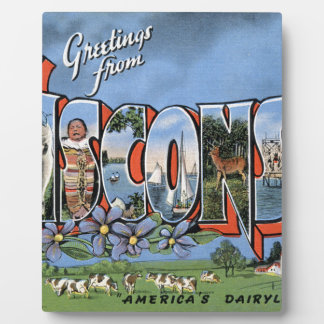 Greetings From Wisconsin Plaque