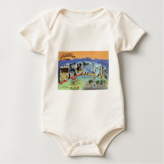 Greetings From Wyoming Baby Bodysuit