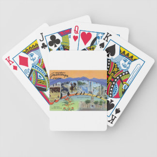 Greetings From Wyoming Bicycle Playing Cards