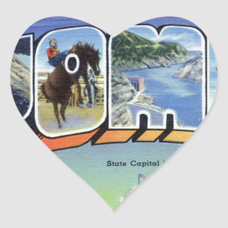Greetings From Wyoming Heart Sticker