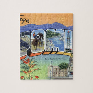 Greetings From Wyoming Jigsaw Puzzle