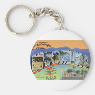 Greetings From Wyoming Keychain