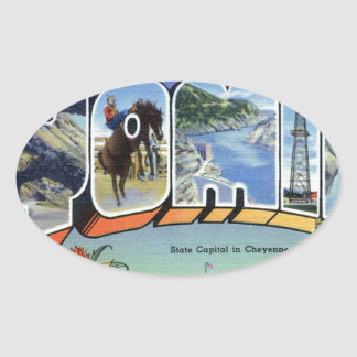 Greetings From Wyoming Oval Sticker