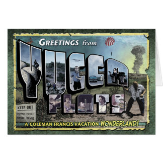 Greetings from Yucca Flats Card