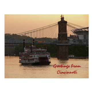 Greetings FromCincinnati Postcard
