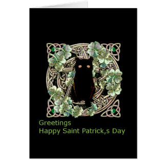 Greetings Happy Saint patrick;s Day Celtic Card