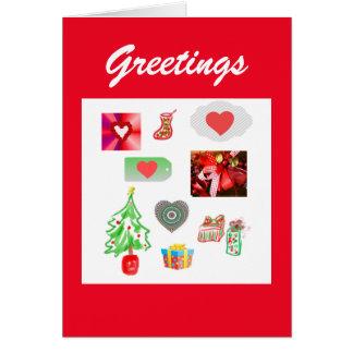 Greetings Holiday Card