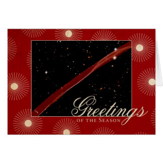 Greetings of the Season Hubble Space Ribbon Card