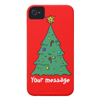Greetings with Christma, just add your own message iPhone 4 Case-Mate Cases