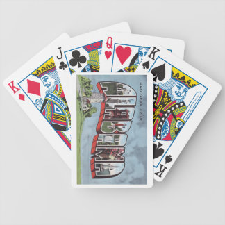Greetins from Alabama vintage postcard theme Bicycle Playing Cards