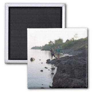 Greg & Dan Lake Superior Square Magnet