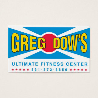 Greg Dow's Ultimate Fitness Center Business Card