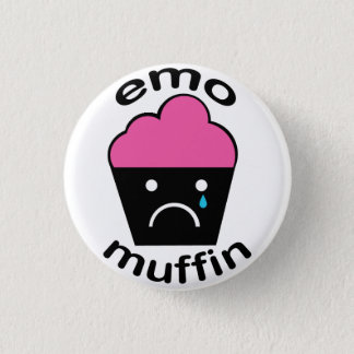 Greg the Emo Muffin 1 Inch Round Button