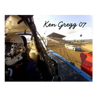 Gregg Racing Autograph card Postcard