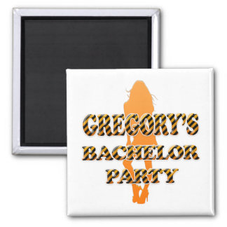 Gregory's Bachelor Party Square Magnet