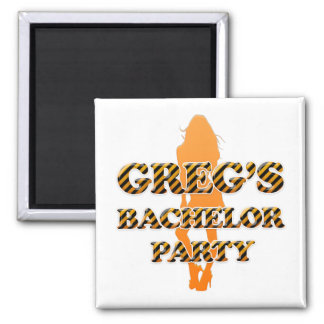Greg's Bachelor Party Square Magnet
