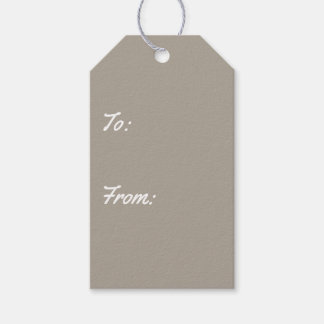 Greige Solid Color Customize It Pack Of Gift Tags