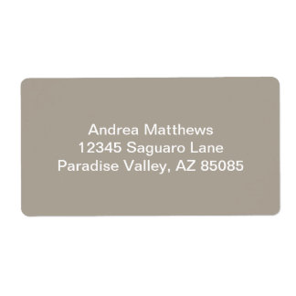 Greige Solid Color Customize It Shipping Label