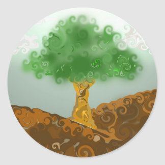 Gremis The Tree Classic Round Sticker