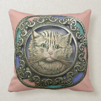 Gren Eyed Cat Pillow