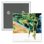 Gren Lanterns Flying in Space Pinback Buttons