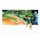 Gren Lanterns Flying in Space Postcard