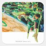 Gren Lanterns Flying in Space Sticker