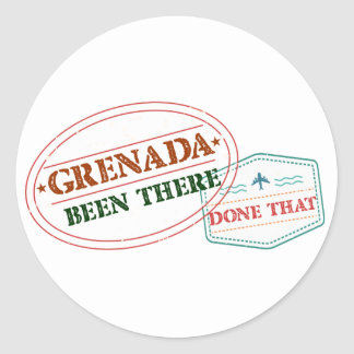 Grenada Been There Done That Classic Round Sticker