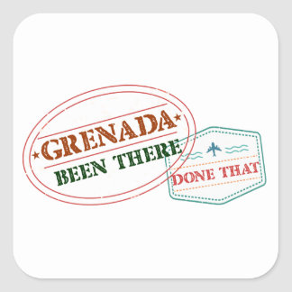 Grenada Been There Done That Square Sticker