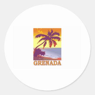 Grenada Classic Round Sticker