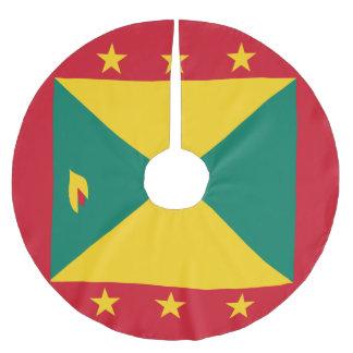 Grenada Flag Brushed Polyester Tree Skirt