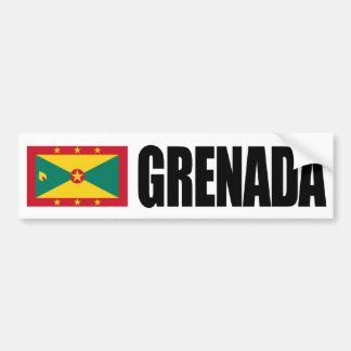 Grenada Flag Bumper Sticker