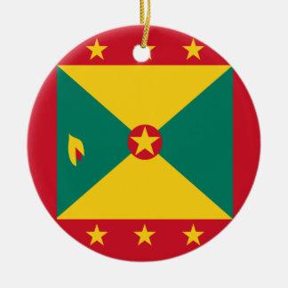 Grenada Flag Ceramic Ornament