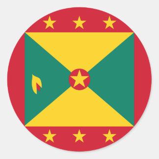 Grenada Flag Classic Round Sticker