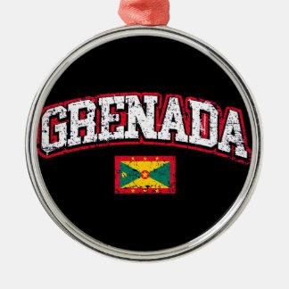 Grenada Flag Metal Ornament