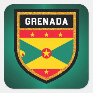 Grenada Flag Square Sticker