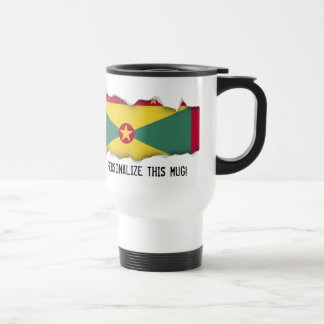 Grenada Flag Travel Mug