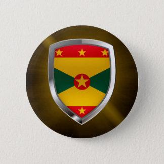 Grenada Mettalic Emblem 2 Inch Round Button