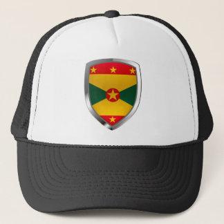 Grenada Mettalic Emblem Trucker Hat