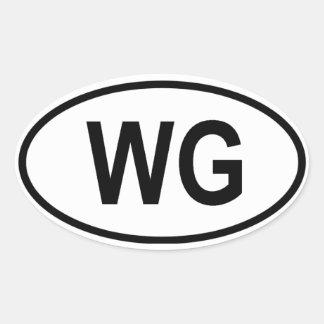 """Grenada """"WG"""" Oval Sticker"""