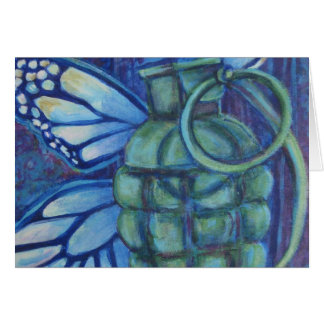 Grenade and Butterfly Greeting Cards