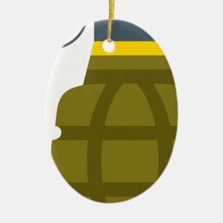 Grenade Ceramic Ornament