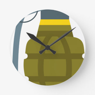 Grenade Round Clock