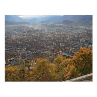 Grenoble cable way postcard