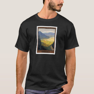 Grenoble France Railway Vintage Posters T-Shirt
