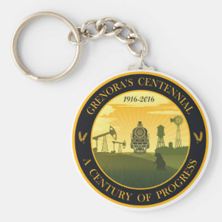 Grenora Centennial Official Logo Key Chain