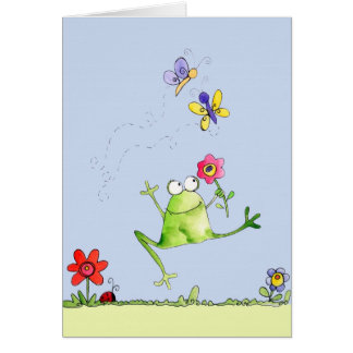 Grenouille heureuse - carte de note